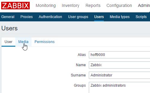 Zabbix users